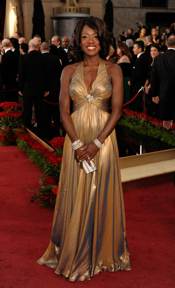 Photo - Actress Viola Davis, nominated for an Oscar for Best Actress in a Supporting Role for her work in