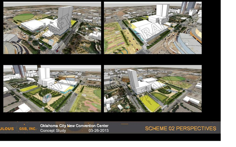 Scheme 2. Proposal for new Oklahoma City Convention Center provided by GSB, Inc.