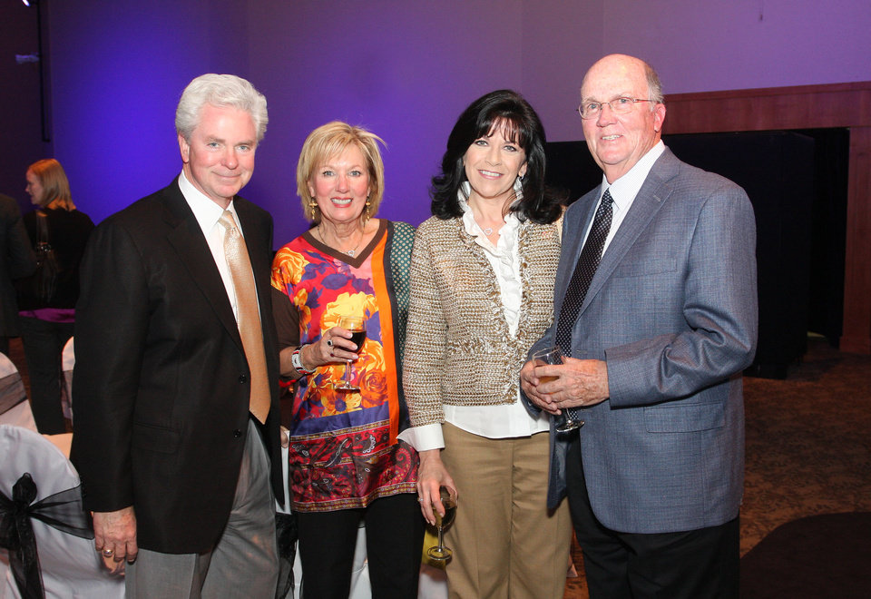 Photo - Rich Taylor (dean), Anne McCurdy, Andy Taylor, Bill McCurdy. Photo by David Faytinger for The Oklahoman