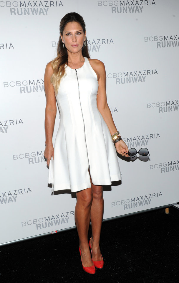 Photo -   Daisy Fuentes poses before the BCBG MAX AZRIA Spring 2013 collection is shown at Fashion Week in New York, Thursday, Sept. 6, 2012. (Photo by Diane Bondareff/Invision/AP Images)