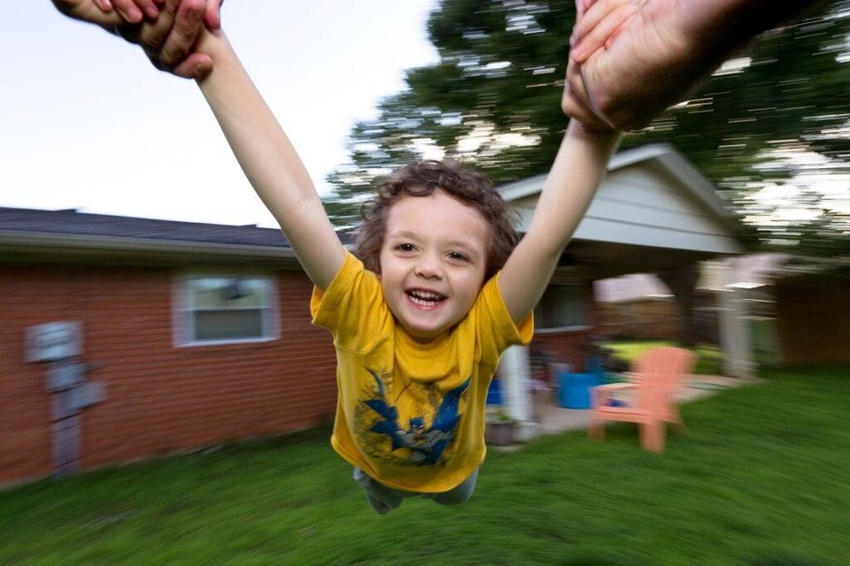 Photo -  @ggrozny   Enjoying the great outdoors with my son, Caden, in our backyard. Naturally, every 2 year old loves to spin around. I wanted to capture the moment, so I hooked my camera to my chest with a belt and we spun until we couldn't spin anymore.