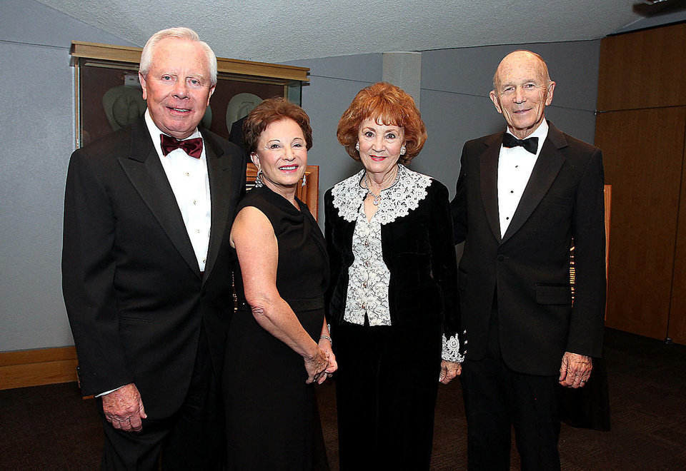 Charles and Peggy Stephenson, Millie and Dr. Kenneth Cooper. Photo by David Faytinger for The Oklahoman__