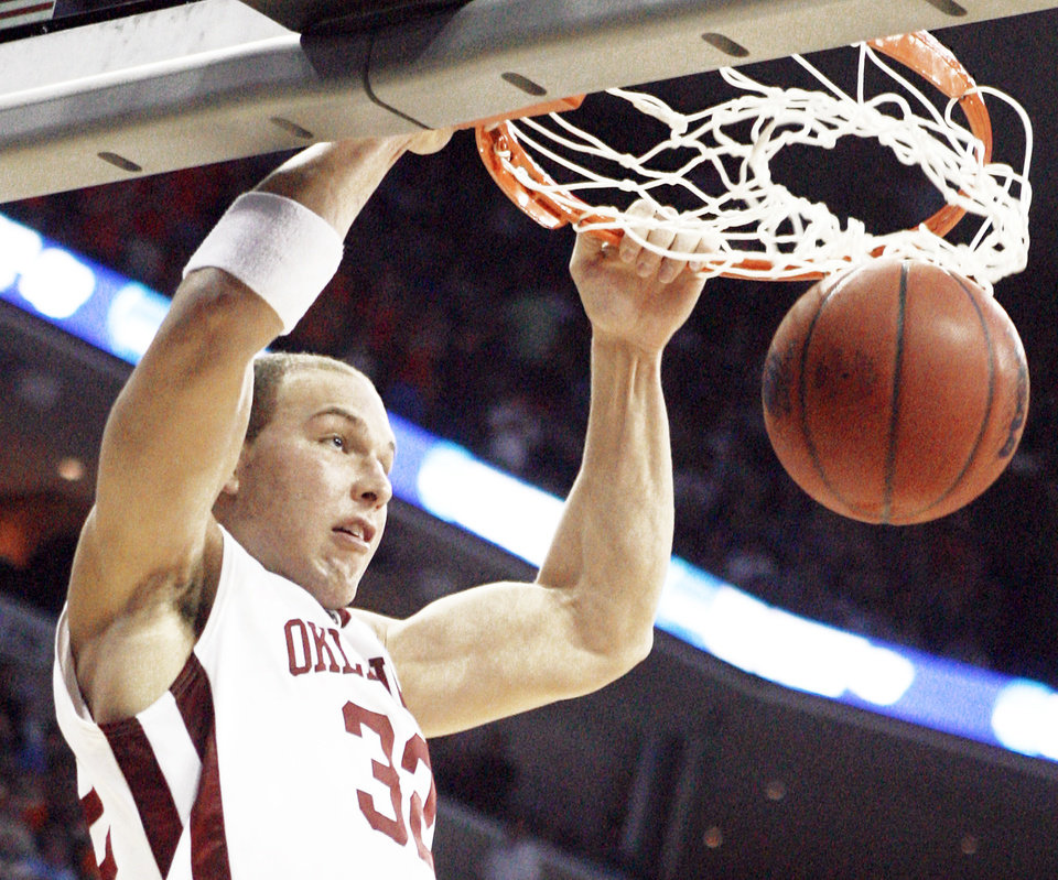 Taylor Griffin is still hoping to get a shot in the NBA, and could be a second-round draft pick. Photo by Chris Landsberger, The Oklahoman