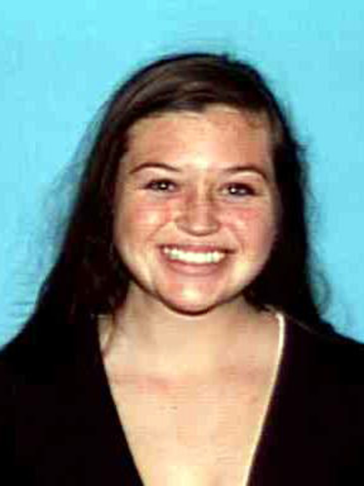 This image provided by the Orange County Sheriff's Department shows hiker, Kyndall Jack who has been missing along with companion, Nicholas Cendoya, since the weekend. Southern California authorities are resuming the search for Jack, 18, and Cendoya, 19, who vanished during a weekend hike in Cleveland National Forest.(AP Photo/Orange County Sheriff's Department)