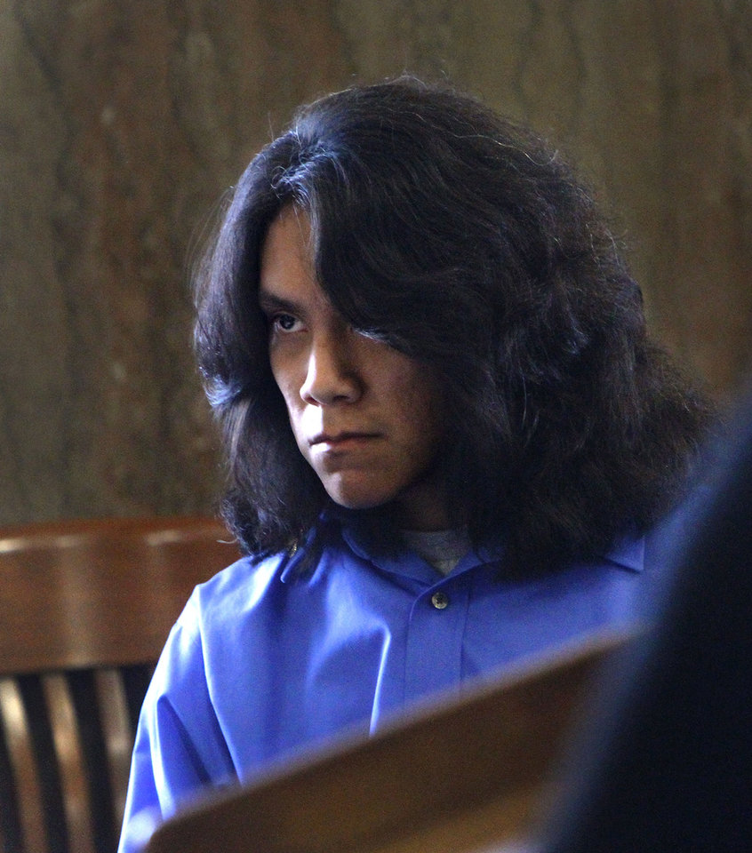 Photo - Rusty Begay, 20, appeared in Special Judge Larry A. Jones' courtroom at the Oklahoma County Courthouse Monday afternoon.   Photos by Jim Beckel, The Oklahoman