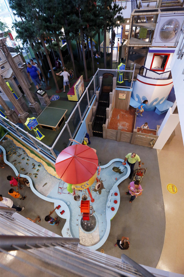 Photo - In this July 3, 2014 photograph, children are seen enjoying the Mississippi Children's Museum in Jackson, Miss. The interactive hands-on facility promotes literacy, health and nutrition, learning the state's heritage and exploration of its cultural arts and key economic industries in a fun setting. (AP Photo/Rogelio V. Solis)