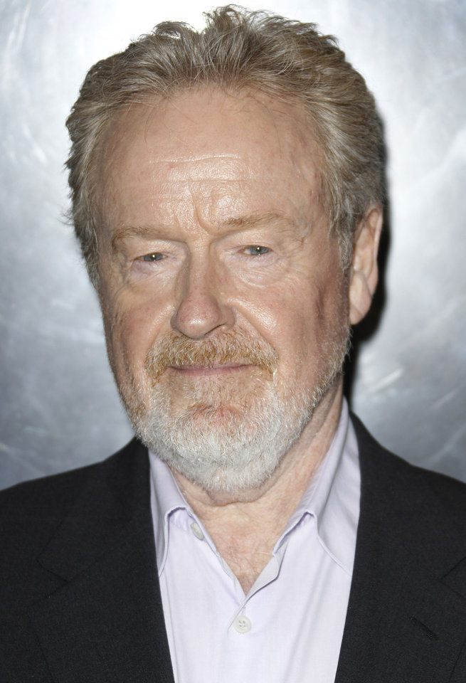 Sir Ridley Scott arrives at a central London cinema for the World Premiere of Prometheus, Thursday, May 31, 2012. (AP Photo/Joel Ryan)