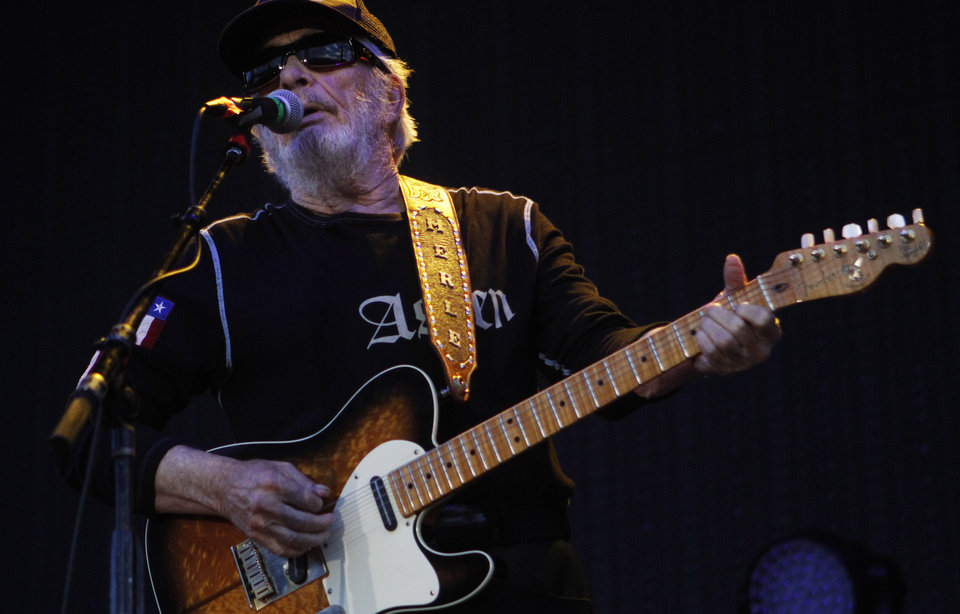 Photo - Merle Haggard performs at OKC Fest in downtown Oklahoma City on Friday, June 27, 2014. OKC Fest is a new two day country music festival with multiple stages downtown. Photos by KT King/The Oklahoman