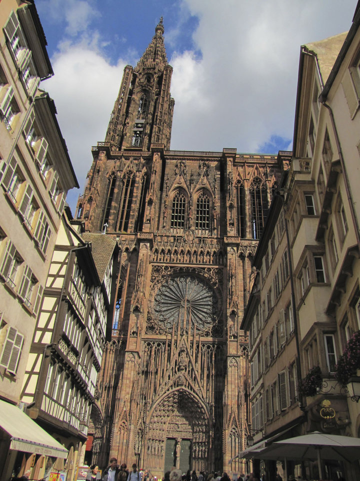 The towering cathedral in Strasbourg, France, is the city's most prominent landmark. Photo courtesy of Barbara Selwitz.