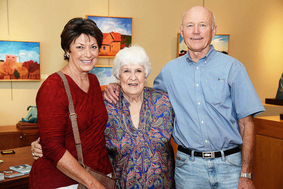 Photo - Narda Wilcox, Shirley Thomson Smith, Jim Wilcox. Photo by David Faytinger, for The Oklahoman