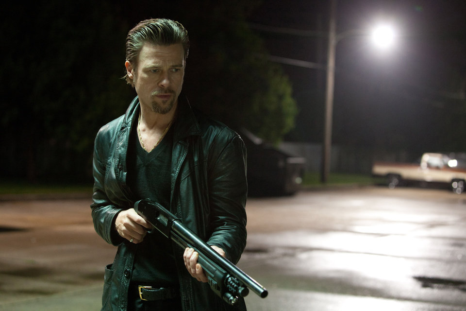Brad Pitt plays a mob enforcer in this scene from �Killing Them Softly.�  WEINSTEIN COMPANY PHOTO