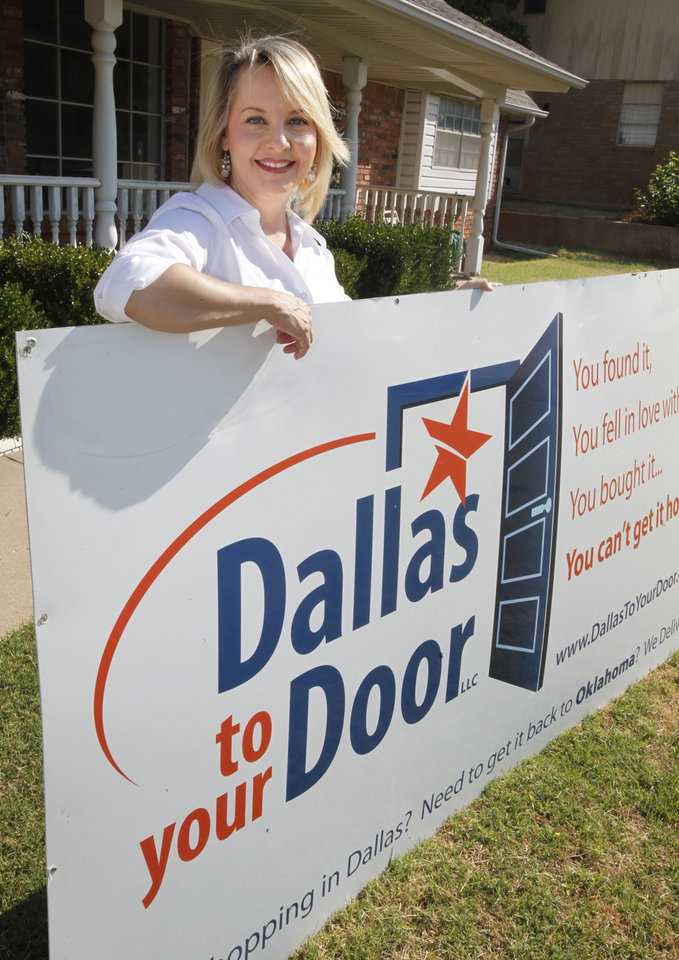 Kellye Kamp founded Dallas to your Door, a company that shops in Dallas for clients and delivers to the Oklahoma City metro. <strong>PAUL HELLSTERN - The Oklahoman</strong>