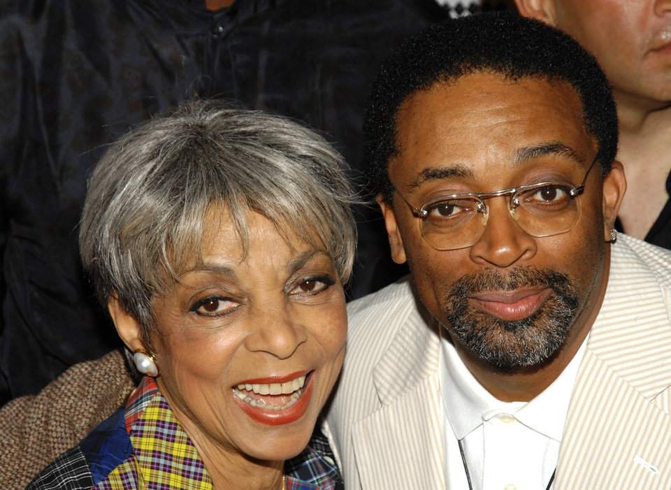Photo - FILE - In this June 29, 2009 file photo, actress Ruby Dee, left, and director Spike Lee attend a special 20th anniversary screening of