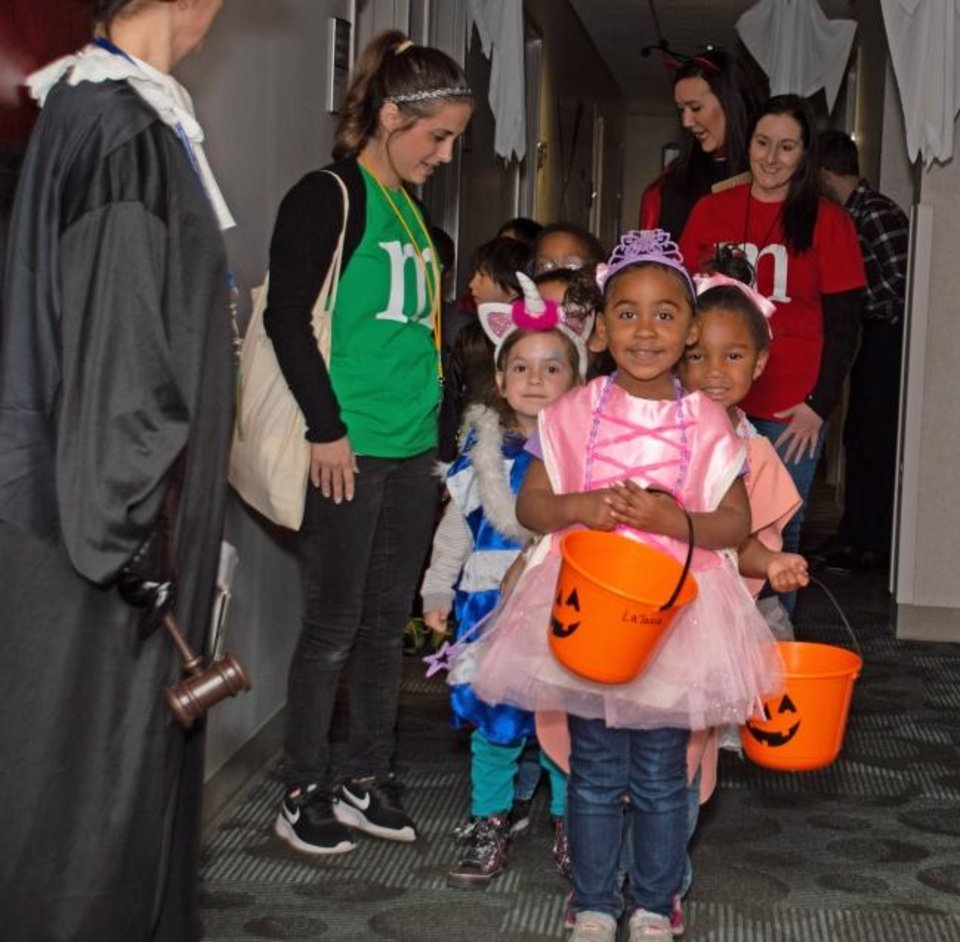 Photo -  This was the 13th consecutive year that the Oklahoma Medical Research Foundation hosted a Halloween event for children from Positive Tomorrows. [PROVIDED]