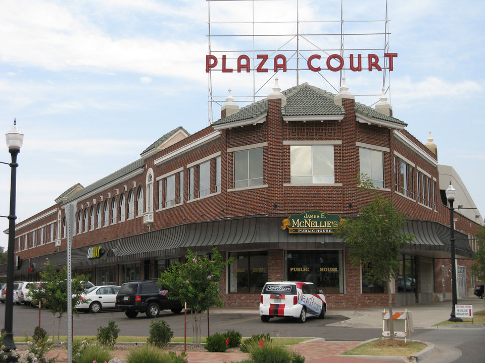 Photo - The Plaza Court Building is widely considered Banta's triumph. The landmark, empty for more than two decades, is almost fully occupied with tenants including Irma's Burgers, James E. McNellie's Public House, the YMCA, Subway and the Prairie Thunder Baking Company.    PHOTO BY STEVE LACKMEYER/THE OKLAHOMAN       ORG XMIT: 0808082214362856