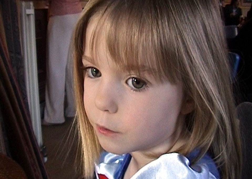"FILE - This March 2007 file photo released by the McCann family Friday May 4, 2007 shows three-year-old British girl Madeleine McCann. British police say Thursday July 4, 2013 they have launched a full investigation into the disappearance of Madeleine McCann, and want to trace 38 ""persons of interest"" in the case. Detectives say it's possible that Madeleine, who vanished from a Portuguese holiday resort six years ago, is still alive. (AP Photo/McCann Family, File)"