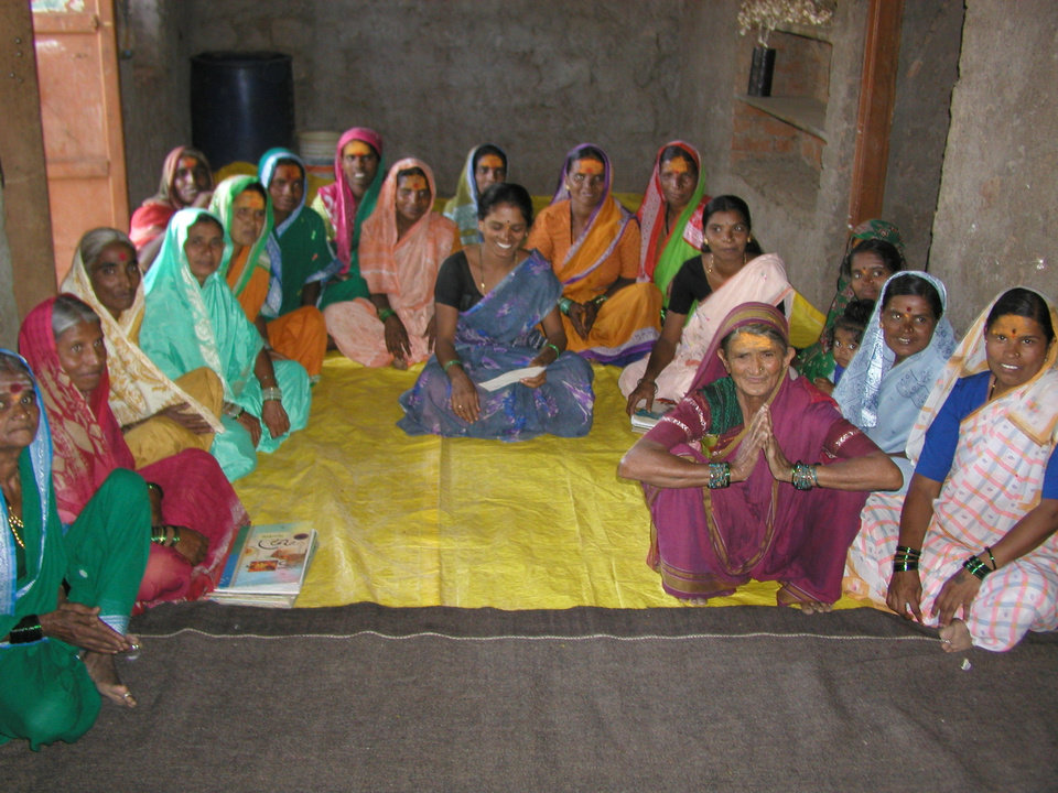 A group of women pose together in India. One of World Neighbors' projects in India involves creating local savings and credit programs for women. <strong> - World Neighbors</strong>