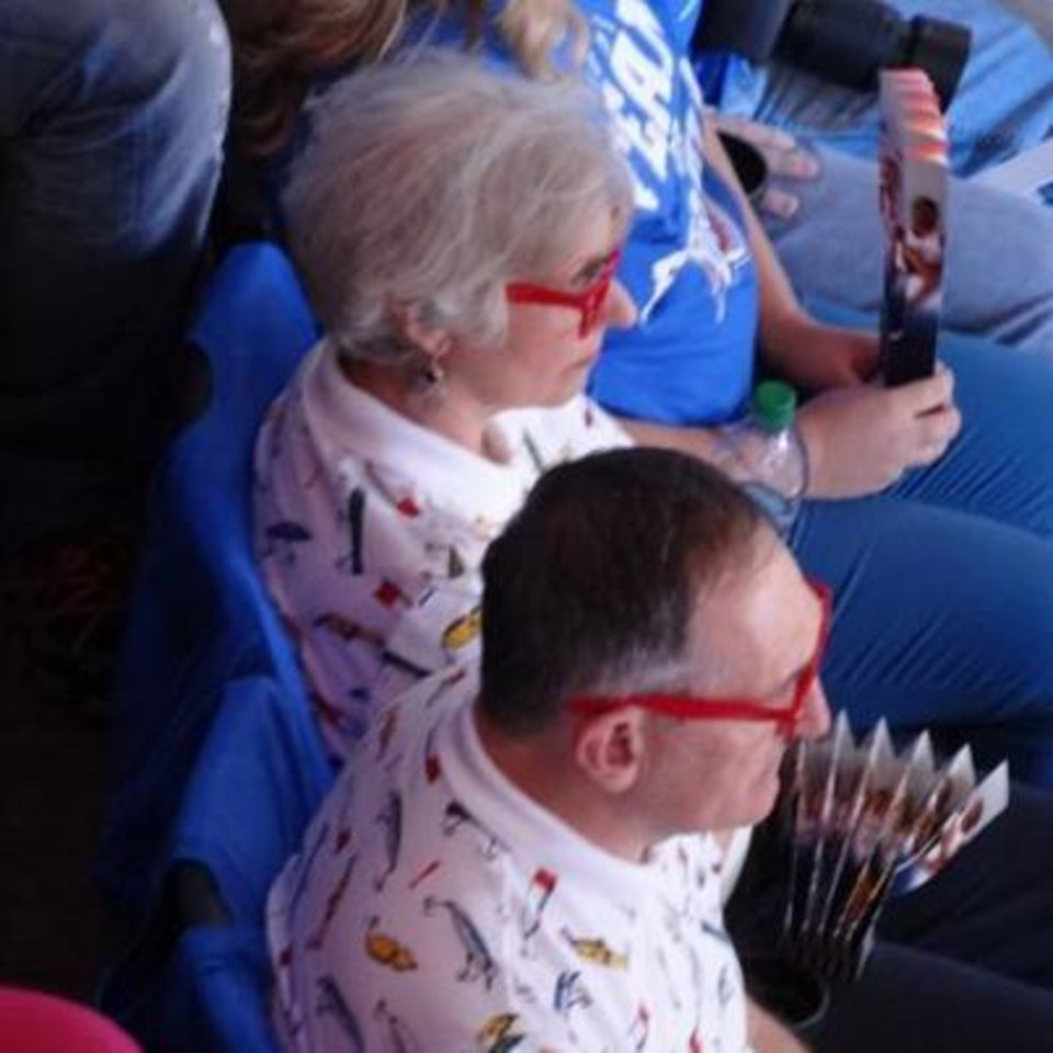 Photo - These Thunder fans obviously approve of Westbrook's style!