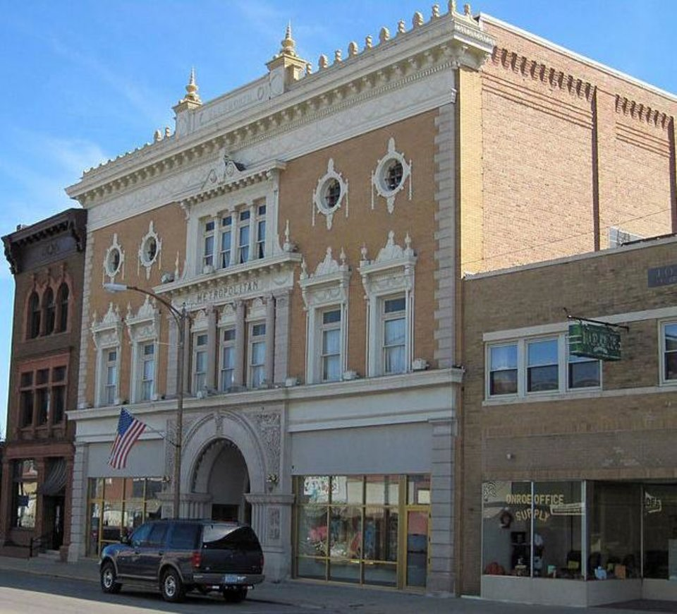 Photo - This undated photo provided by Metropolitan Theater, shows the the Metropolitan Theater in Iowa Falls, Iowa.   When word got out that actor Hugh Jackman was visiting the small northern Iowa city for the reopening of its old movie theater, John Whitesell didn't think it was unusual. The new owner of the 114-year-old Metropolitan Theater in Iowa Falls had known Jackman for years, and recalled how the Australian actor called him a few months ago to express appreciation for his efforts to restore the famed but rundown theater. The theater, built in 1899, originally housed a grand opera house that featured performers like actor Otis Skinner and composer John Philip Sousa. Known first as the Metropolitan Opera House, it was converted into a movie theater around the 1950s and is listed on the National Register of Historic Places.  (AP Photo/Courtesy of Metropolitan Theater)