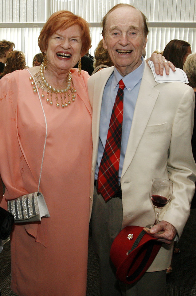 Virginia Campbell and Bill Guilford pose for a photo before the Oklahoma Sports Hall of Fame induction ceremony at the National Cowboy & Western Heritage Museum, Monday, August 3, 2009. By Nate Billings, The Oklahoman