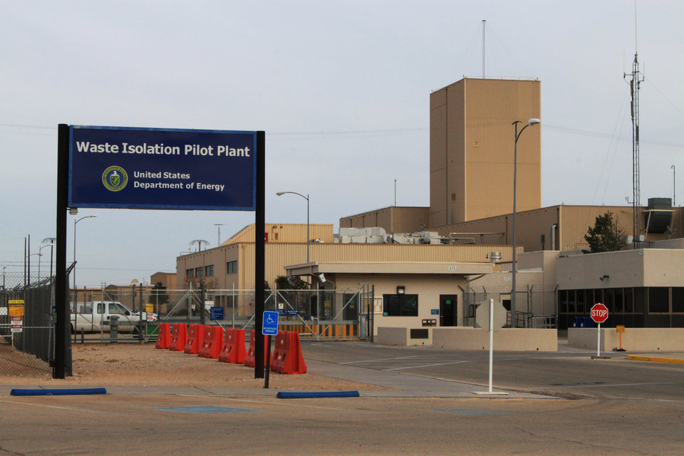 Photo - The Waste Isolation Pilot Plant, the nation's only underground nuclear waste repository near Carlsbad, N.M., remains idle on Thursday, March 6, 2014. Operations at site were halted in February following a truck fire and a release of radiation nine days later. (AP Photo/Susan Montoya Bryan)