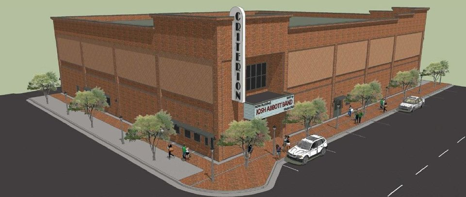 Photo -  The proposed Criterion concert venue to be built in east Bricktown is shown in this drawing.  Image provided by Bucher Design Studio