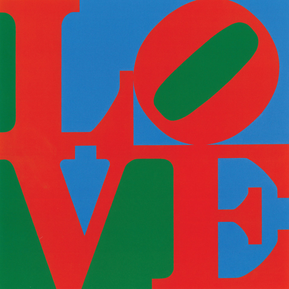 Photo - This undated photo provided by New York's Whitney Museum of American Art shows Robert Indiana's 1966 oil painting