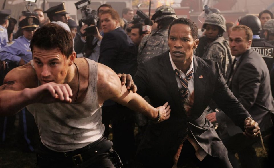 "Channing Tatum and Jamie Foxx star in ""White House Down."" Columbia Pictures photo <strong></strong>"