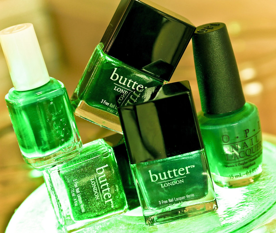Nail polish is an easy way to embrace emerald, the color of 2013. Polish available at The MakeUp Bar. Photo by Chris Landsberger, The Oklahoman.  <strong>CHRIS LANDSBERGER</strong>