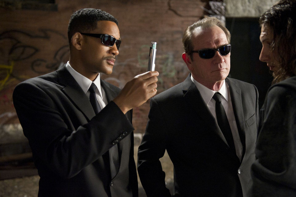 "Will Smith (left) and Tommy Lee Jones star in Columbia Pictures' ""Men in Black 3.""  Columbia Pictures. <strong>Wilson Webb</strong>"