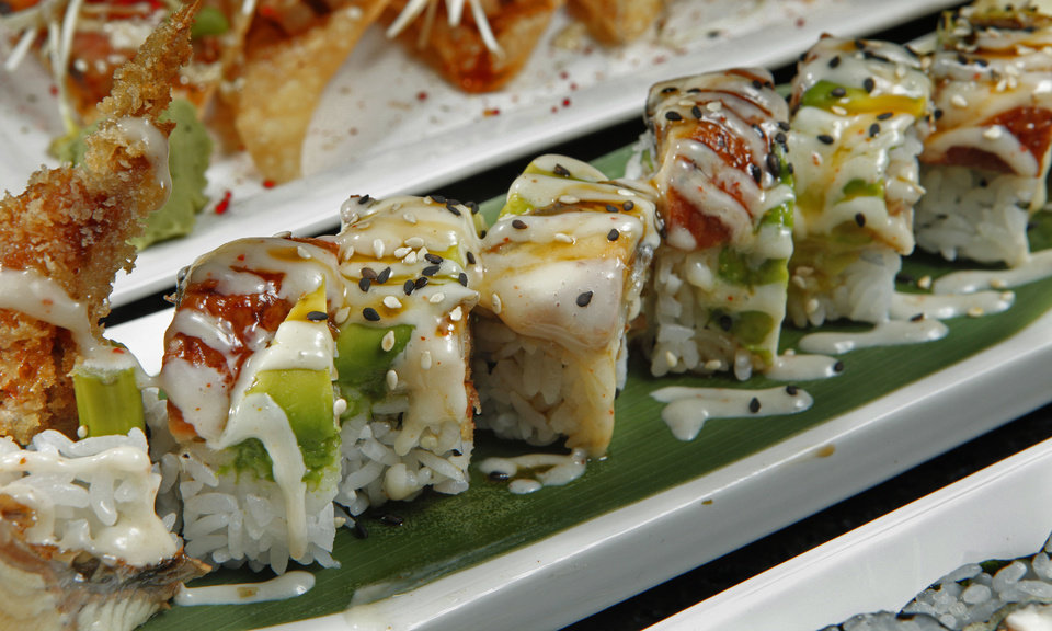 A sushi dish called Sexy Eyes is on the menu at 180 Meridian Grill. <strong>STEVE SISNEY - THE OKLAHOMAN</strong>