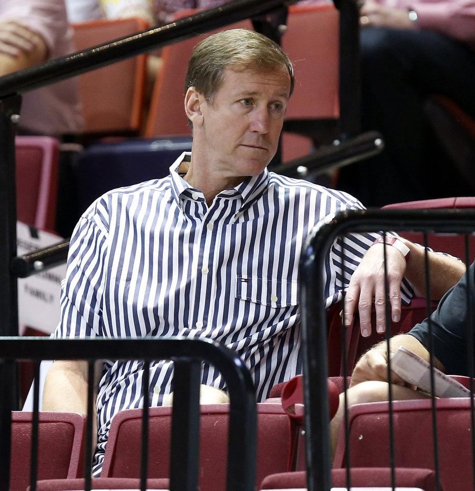 Photo - Portland Trail Blazers head coach and former OU player Terry Stotts attends the OU Legends Alumni Game in Lloyd Noble Center in Norman, Okla., Saturday, Aug. 23, 2014. The game is part of the Sooner Basketball Family Weekend. Photo by Nate Billings, The Oklahoman