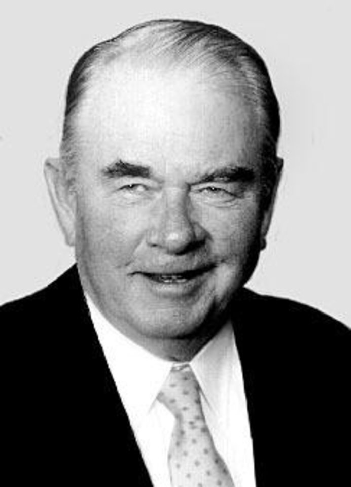 Photo - Henry Bellmon, former Oklahoma governor