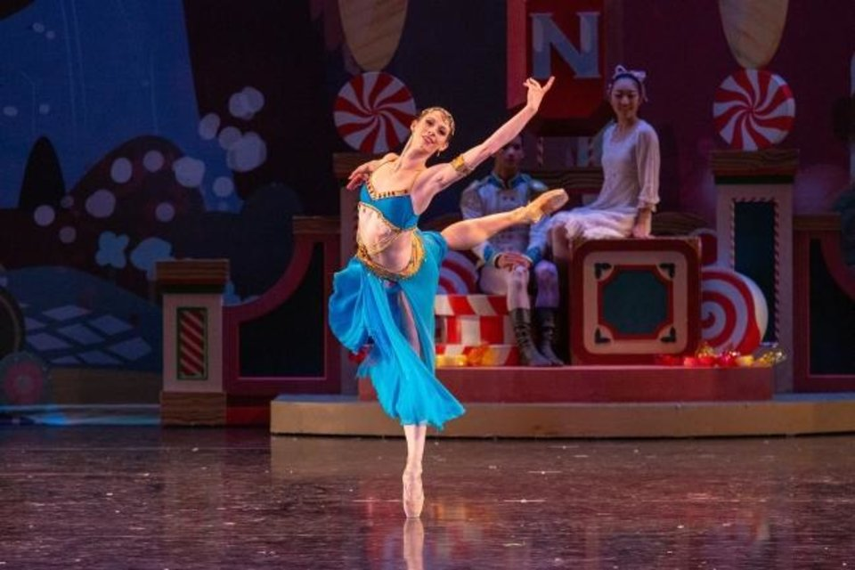 Photo -  Principal dancer Courtney Connor Jones performs with Oklahoma City Ballet's 2018 production of