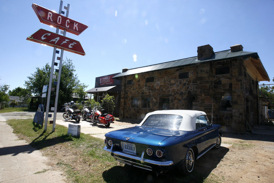The reopening of the Rock Cafe happened Friday, May 29, 2009, a year after the historic building burnt down. Photo by Ashley McKee, The Oklahoman