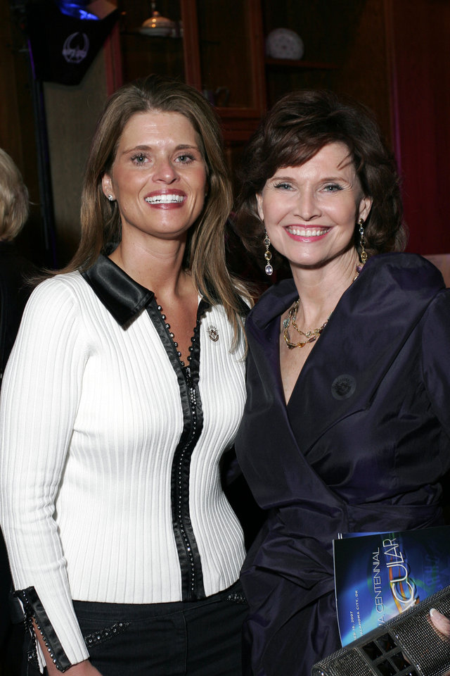 Photo - Shannon Nance and Jane Jayroe Gamble at the after party for the Centennial Spectacular at the Ford Center Friday, Nov. 16, 2007. By David Faytinger, for The Oklahoman.