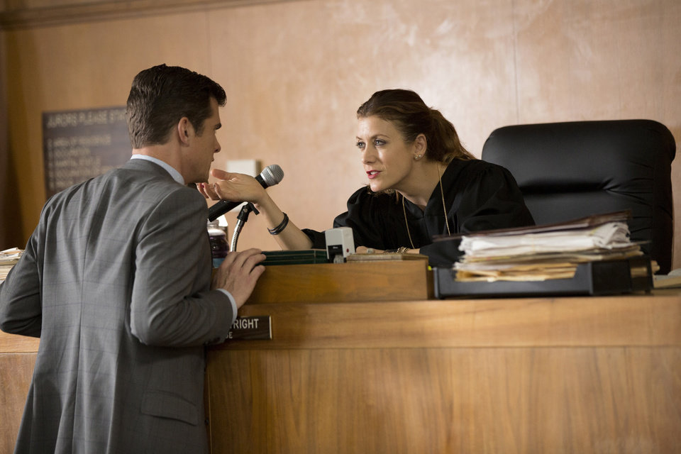 Photo - This image released by NBC shows John Ducey, left, and Kate Walsh in a scene from