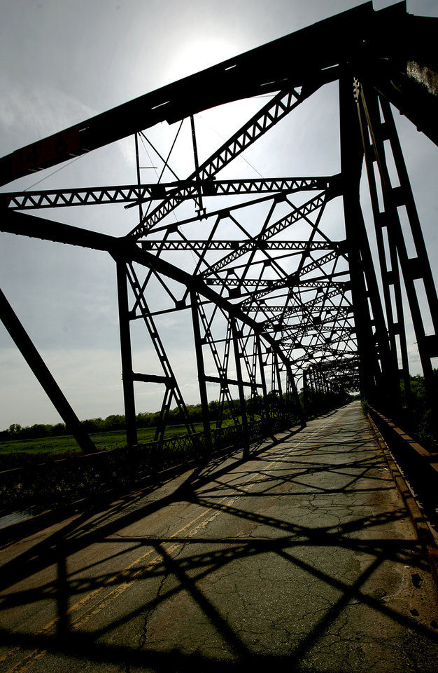 The old bridge near Route 66 and Overholser Road in Oklahoma City on Monday, April 30, 2007. By John Clanton, The Oklahoman