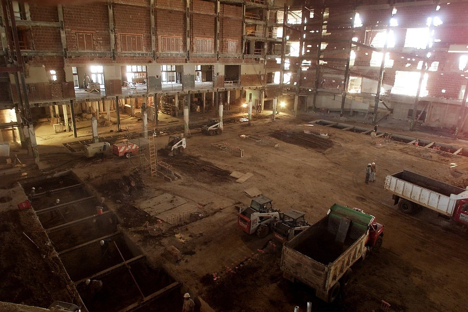 Renovation: Inside of the Oklahoma City Civic Center Music Hall.
