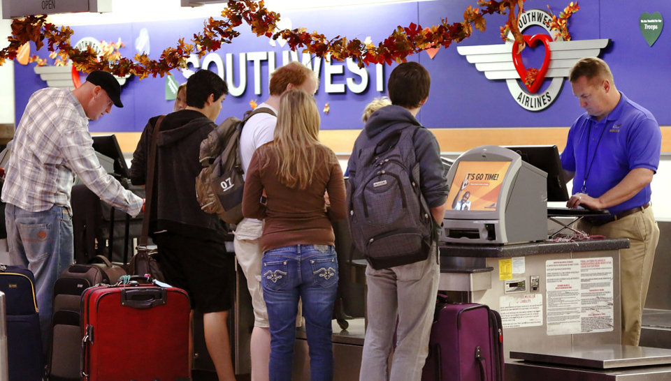 Will Rogers World Airport was prepared for the onslaught of holiday travelers who converged there Wednesday, Nov. 21, 2012, in advance of the Thanksgiving holiday. Several thousand air travelers were expected to fly in and out of Oklahoma City\'s commercial airport. Photo by Jim Beckel, The Oklahoman