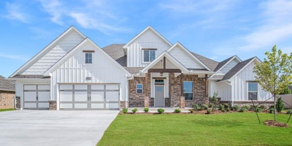 Photo -  Homes By Taber built this house, which is under contract, at 307 Shady Ridge Court in Norman. [PROVIDED BY HOMES BY TABER]