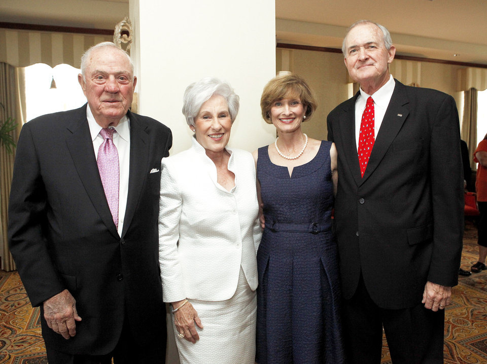 Robert and Nancy Ellis, Kirk and Royce Hammons. PHOTO BY SARAH PIPPS, THE OKLAHOMAN