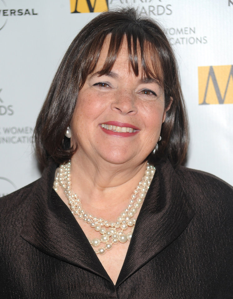 Photo - FILE - In this April 19, 2010, file photo, author and Food Network host Ina Garten attends the 2010 Matrix Awards presented by the New York Women in Communications at the Waldorf-Astoria Hotel in New York. Garten, Anthony Bourdain, and Martha Stewart remain the names to beat in food broadcasting. For a second year running, the three dominated the top tier of television awards by the James Beard Foundation, winning for the same shows in the same categories as in 2014. (AP Photo/Evan Agostini, File)