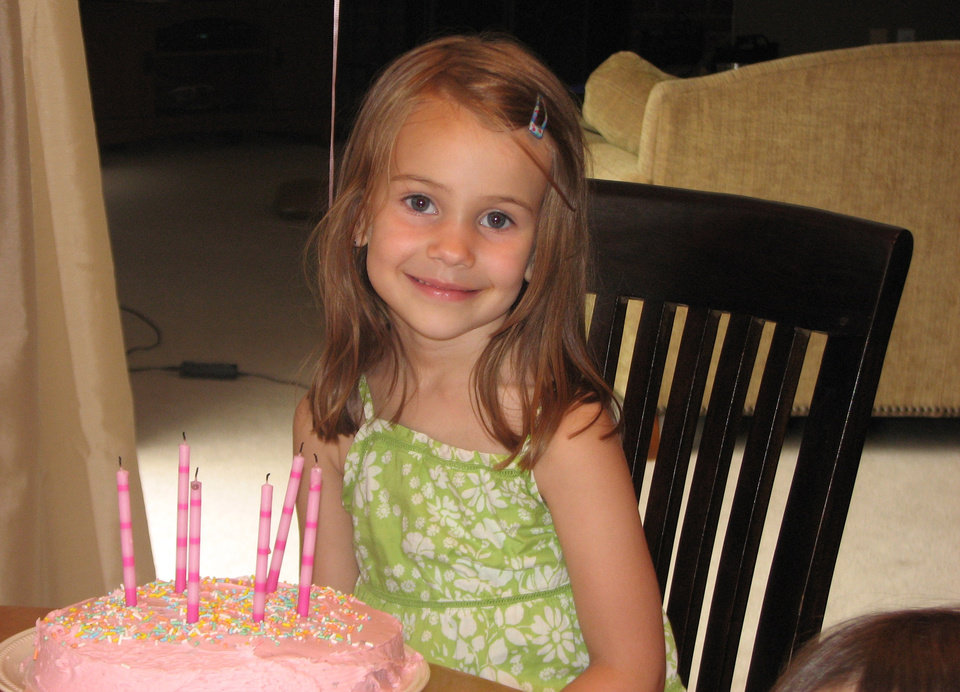 Photo - This photo provided by the Wyatt family shows Allison Wyatt. Wyatt, 6, was killed Friday, Dec. 14, 2012, when a gunman opened fire at Sandy Hook elementary school in Newtown, Conn., killing 26 children and adults at the school. (AP Photo/Family Photo via Benjamin Wyatt)