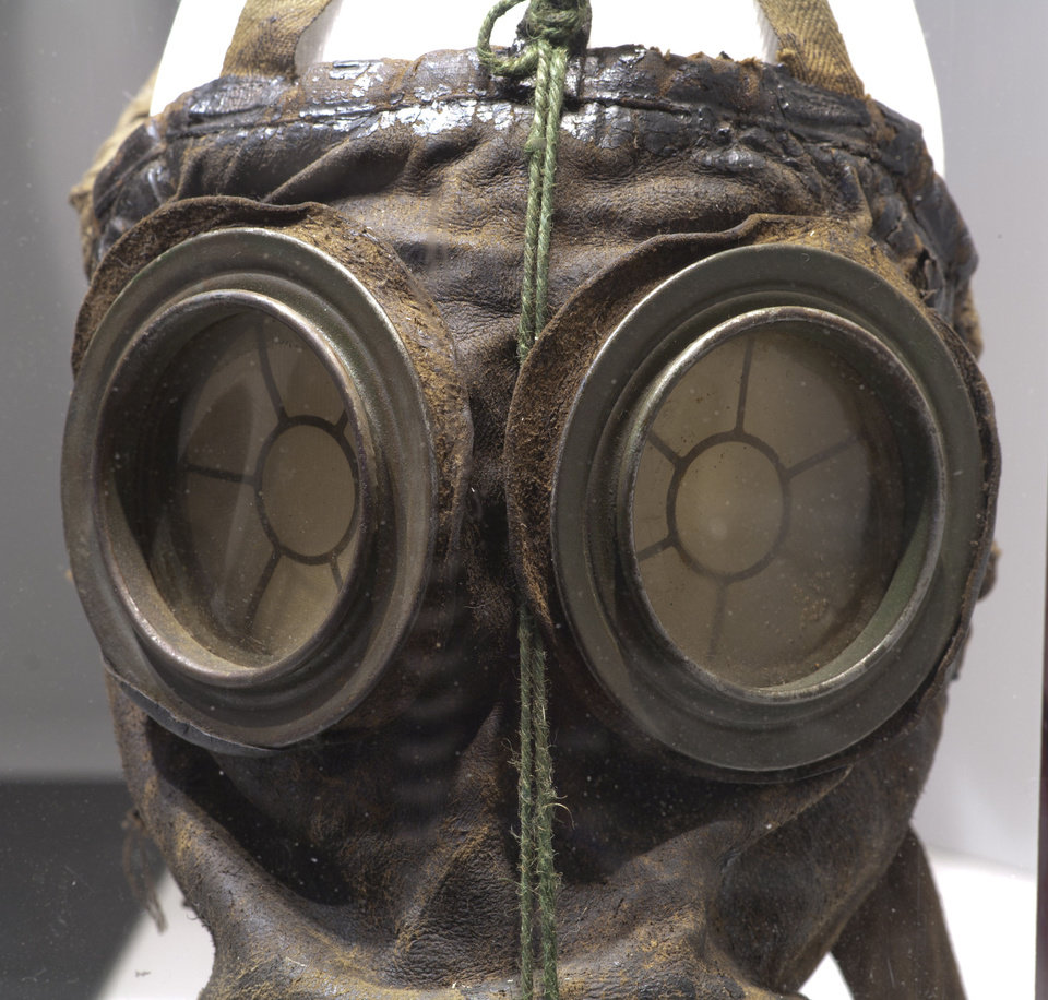 Photo - A German gas mask is part of the