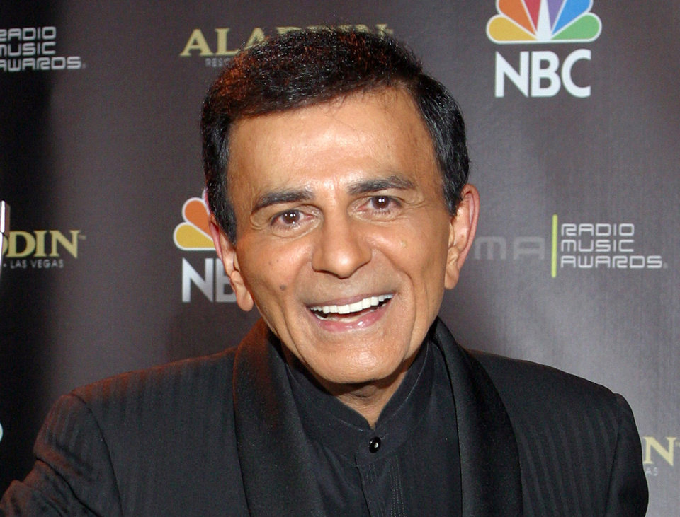 Photo - FILE - In this Oct. 27, 2003 file photo, Casey Kasem poses for photographers after receiving the Radio Icon award during The 2003 Radio Music Awards at the Aladdin Resort and Casino in Las Vegas. A Los Angeles judge appointed one of Kasem's daughters as his  temporary conservator on Monday May 12, 2014, after expressing concerns about the ailing radio personality's well being because he has been moved to a medical  facility outside the United States. A lawyer for Kasem's wife said he doesn't know where he is. (AP Photo/Eric Jamison, File)