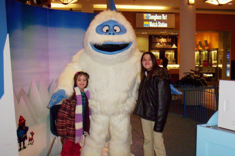 Charlotte and Carina and Snowman<br/><b>Community Photo By:</b> Joanna Miller<br/><b>Submitted By:</b> Joanna, Guthrie