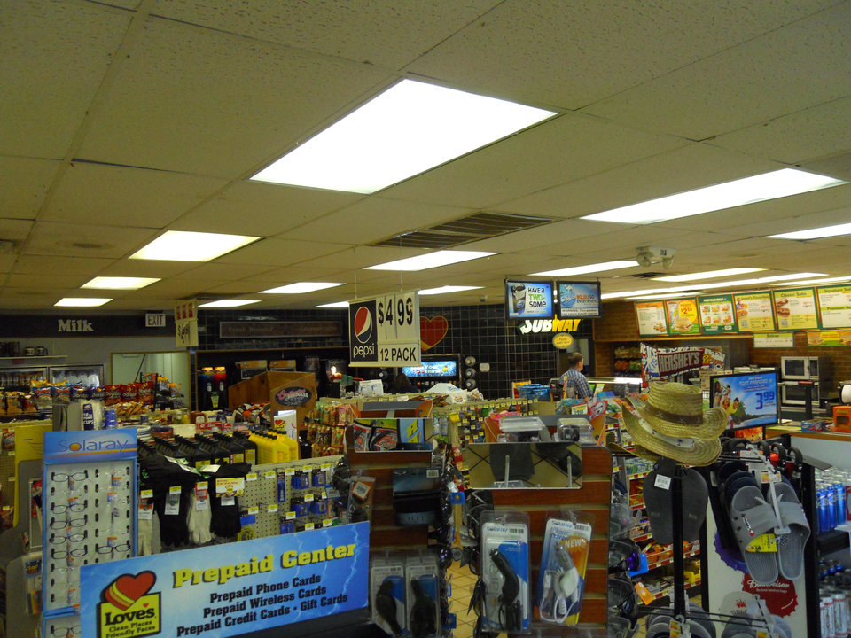 Photo - Inside the Love's Country Store at 3233 SW 89 before its $400,000 facelift.   - provided