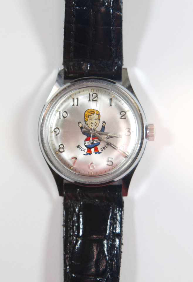This watch belonging to Dale Wehba was given to him by Buck Owens. Photo By Steve Gooch, The Oklahoman <strong>Steve Gooch - The Oklahoman</strong>