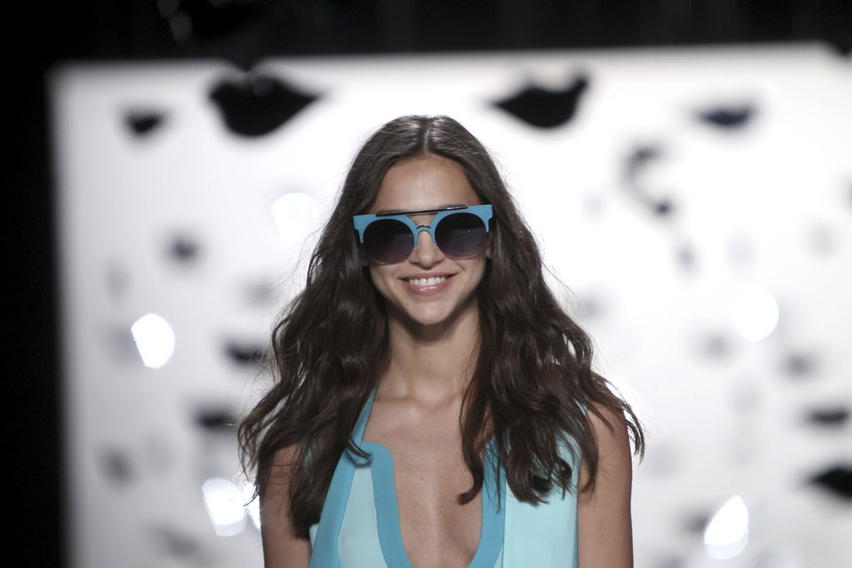 Photo -   The Diane Von Furstenberg Spring 2013 collection is modeled during Fashion Week in New York, Sunday, Sept. 9, 2012. (AP Photo/Seth Wenig)